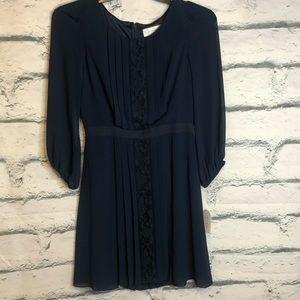 Jessica Simpson Blue Pleated Dress sz 6 NWT